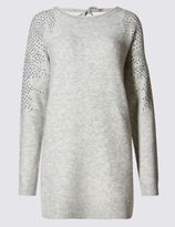 Marks and Spencer V-Back Heat Seal Shoulder Crew Neck Jumper