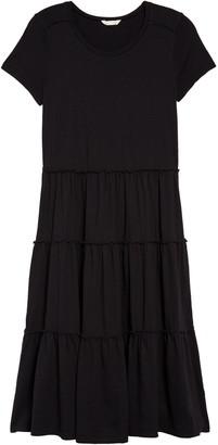 Caslon Tiered Knit Short Sleeve Dress