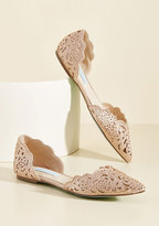 Betsey Johnson Footwear Divine Dining Flat in Champagne