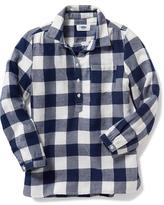 Old Navy Plaid Popover Shirt for Girls