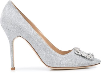 Manolo Blahnik Hangisi embellished pointed pumps