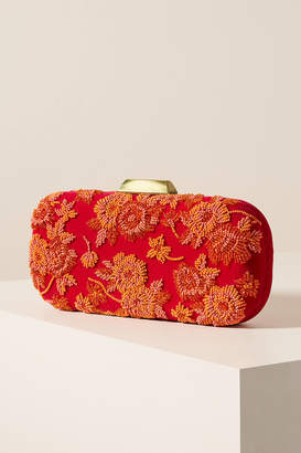 Anthropologie Colleen Embroidered Velvet Crossbody Bag