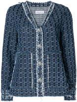 Sonia Rykiel sr laser motif denim jacket