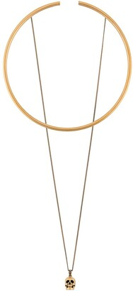 Alexander McQueen Skull Pendant Choker Necklace