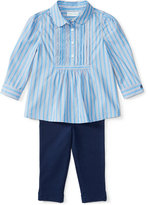 Ralph Lauren Girls' Long-Sleeve Shirt & Leggings Set