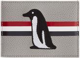 Thom Browne Grey and Orange Penguin Single Card Holder