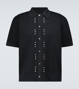 Bottega Veneta Technical pique knitted shirt