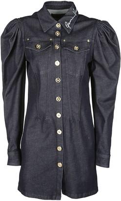 Versace Button Up Denim Dress