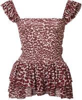 Piamita leopard print top - women - Polyester/Silk - XS