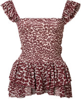 Piamita leopard print top - women - Silk/Polyester - XS