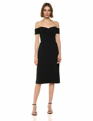 Dress the Population Women's Bailey Off The Shoulder Sweetheart Bodycon Midi Sheath Dress