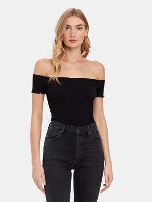 Free People Moulin Rouched Off The Shoulder Top