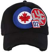 DSQUARED2 Flag Patches Canvas Baseball Cap