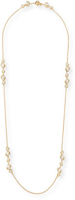 "MARINA B Cardan 18k Yellow Gold White Agate Necklace, 40""L"