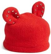 Helene Berman Studded Ears Wool Blend Cap