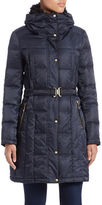 Vince Camuto Faux Fur-Collared Quilted Coat