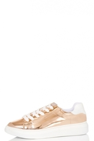 Quiz Rose Metallic Lace Trainer