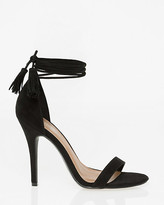 Le Château Suede-Like Open Toe Ghillie Tie Sandal