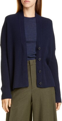 Vince Rib Wool & Cashmere Cardigan