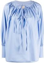 L'Autre Chose front tie poplin blouse