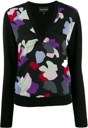 Emporio Armani Abstract Print Knit Jumper