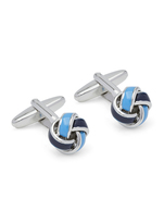 Oxford Cufflinks Blue/Silver Knot