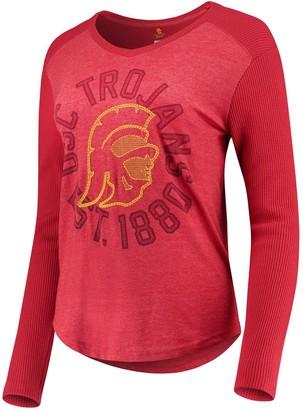 Unbranded Women's Cardinal USC Trojans Celeste Long Sleeve Thermal T-Shirt