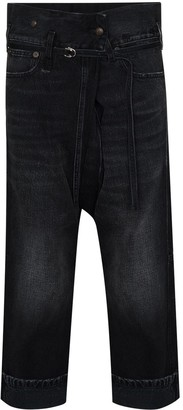 R 13 Staley cropped jeans