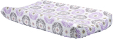 Trend Lab Gray & Lilac Florence Changing Pad Cover