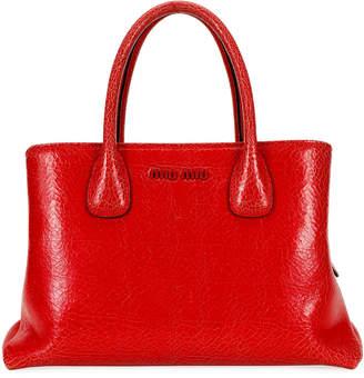 Miu Miu Craquelest Fiori Top Handle Bag