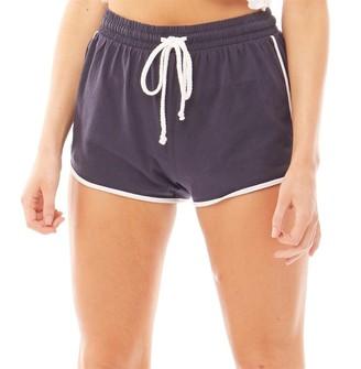 Brave Soul Womens Lillian Running Style Shorts Navy/White