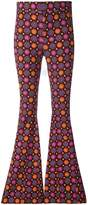 Givenchy psychedelic print flared trousers