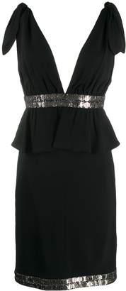 Karl Lagerfeld Paris v back cocktail dress