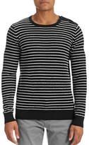 J. Lindeberg Button Shoulder Stripe Sweater