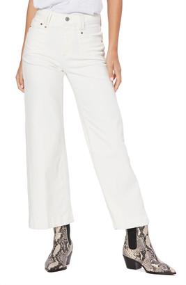 Paige Anessa High Waist Crop Wide Leg Jeans
