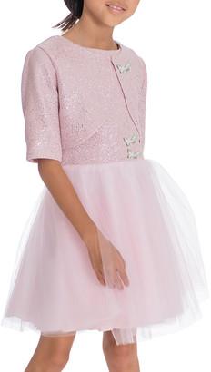 Zoe Girl's Shai Foiled Tulle Party Dress 2-Piece Set, Size 7-16