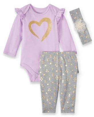 Miniville Baby Girls Bodysuit, Leggings and Headband, 3-Piece Set
