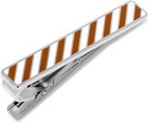 Ox and Bull Trading Co. Varsity Stripes Burnt Orange and White Tie Clip