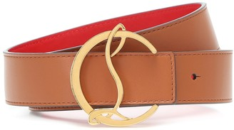 Christian Louboutin Exclusive to Mytheresa CL Logo reversible leather belt