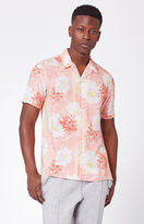 PacSun Bloom Short Sleeve Button Up Camp Shirt