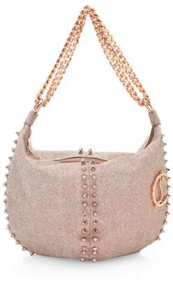 Christian Louboutin Elixira Studded Sparkle Hobo Bag