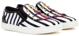 Dolce & Gabbana Striped slip-on sneakers