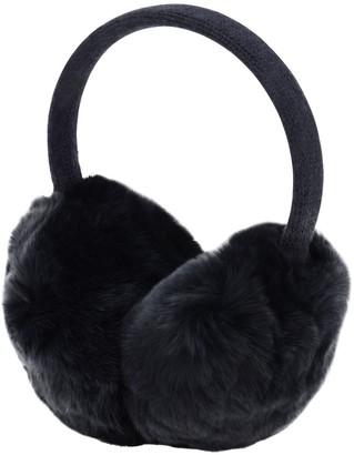 Yves Salomon Enfant Wool & Cashmere Knit Earmuffs W/ Fur
