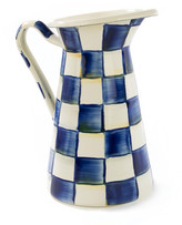 Mackenzie Childs Royal Check Medium Practical Pitcher