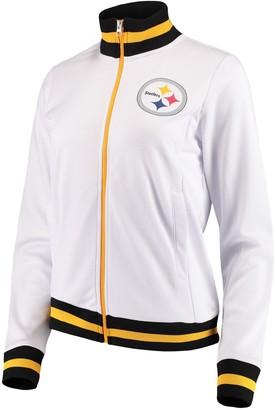 G Iii Women's G-III 4Her by Carl Banks White Pittsburgh Steelers Field Goal Track Jacket