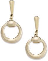 Alfani Earrings, Gold-Tone Ring Drop Clip-On Earrings
