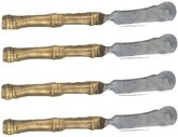 """Silver Seasons Michael Machaud """"4 Bamboo Cheese/Butter Spreaders ~ Table Art by Michael Michaud for Silver Seasons"""
