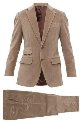 Thom Sweeney - Single-breasted Corduroy Suit - Grey