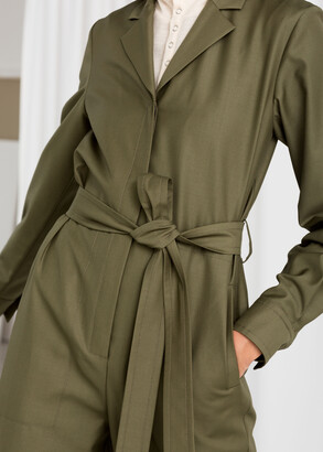 And other stories Belted Wool Blend Boilersuit