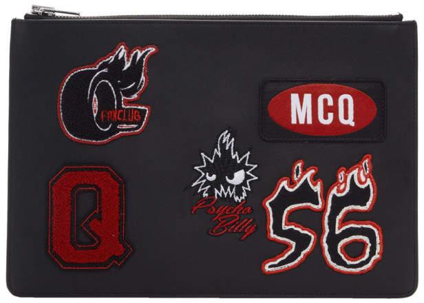 McQ (マックキュー) - Mcq Alexander Mcqueen McQ Alexander McQueen ブラック バーシティ バッジ タブレット ポーチ